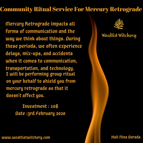 Mercury Retrograde Community Service
