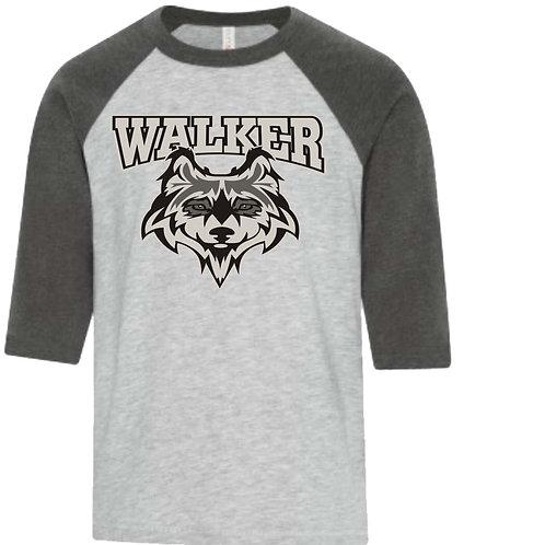 WALKER TEACHER 3/4 BASEBALL SHIRT