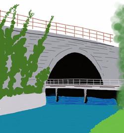 bridge Meole railway