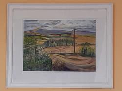 Summer View from Snailbeach Mine (framed