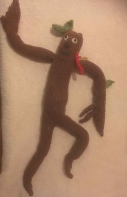 Anna Vass Stick Man - knitted
