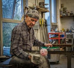 Peter Fricker working