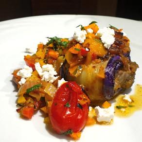 Rolled Eggplants with Lamb.