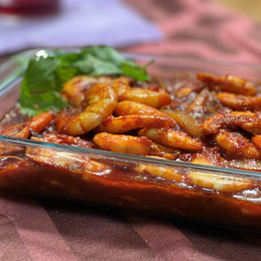 Shrimps Sambal.
