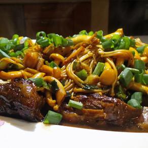 Beef Teriyaki with Japanese Mushroom