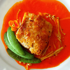 Pan-Seared Fish Fillet with Red Sauce