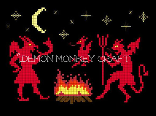 Dance with the Devils DIGITAL PATTERN for Cross Stitch