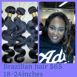 Body wave Brazilian with a sew In