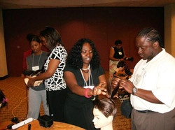 Teaching a hair similar in New York. I miss those days of traveling and doing shows