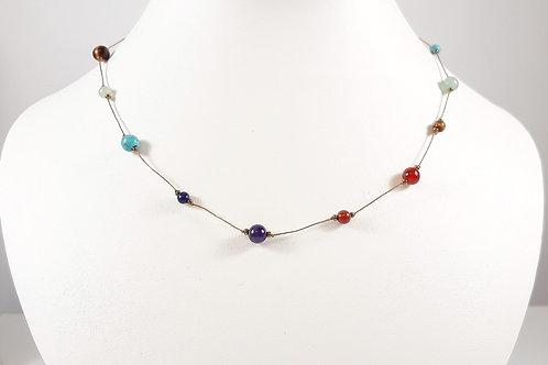 Chakra Knotted Necklace