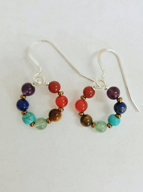 Chakra Round Earrings