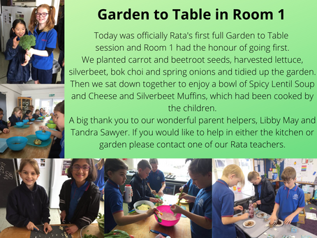 Garden to Table in Room 1