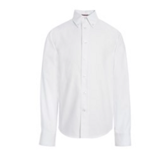 White Button-Down Long Sleeve Oxford Shirt