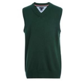 Sleeveless Green V-neck Pullover Sweater
