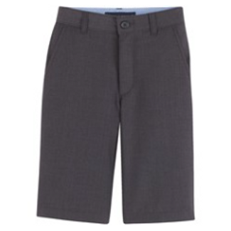 Grey Flat Front Short