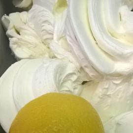Lemon Meringue Pie gelato! Get yours Sat