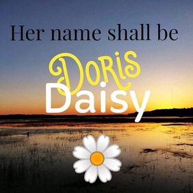 Our new addition has a name, Doris Daisy