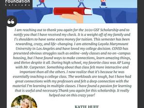 College During Covid: GHS Scholarship Recipient Updates