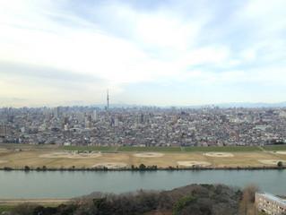 川の向こうは東京都