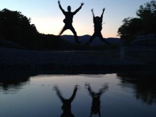 日没寸前のジャンプ