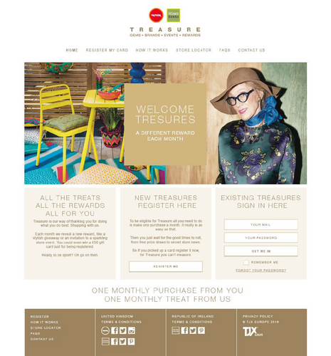 Treasure webpage