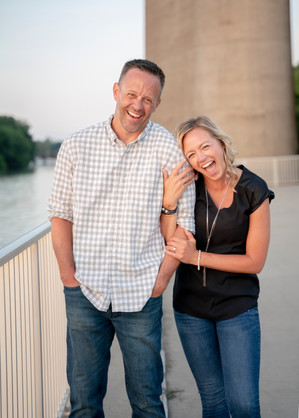 Waterfront Park Engagement Session in Louisville, Ky.