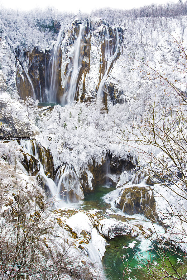 Plitvice Lakes in Winter