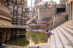 Dawn at the Varanasi ghats