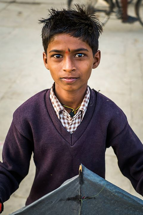 Varanasi Boy with Kite