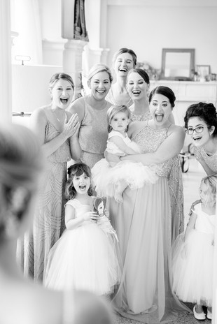 First look with bridesmaids  © Stef Elizabeth Photo   Wedding Photographer Serving Louisville, Lexington and Cincinnati