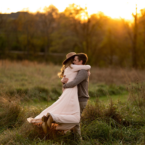 Engagement session at Creasey Mahan Nature Preserve in Goshen, Kentucky