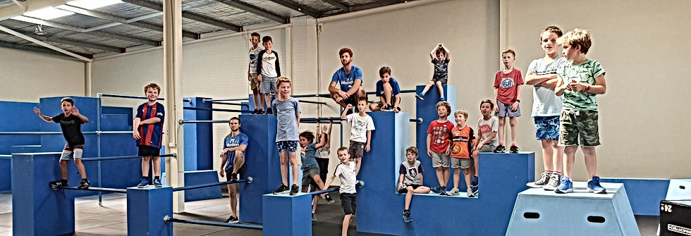 kids birthday party parkour