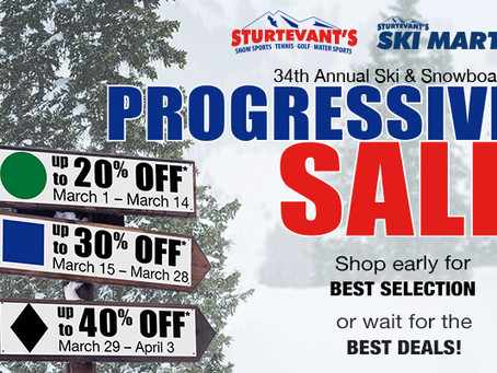 Sturtevant's Progressive Ski & Snowboard Sale