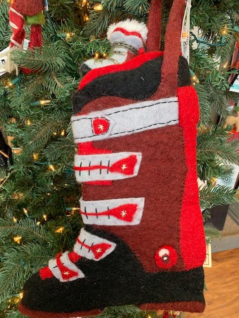 Ski Boot Stocking in Red - Newari by Icelandic Design
