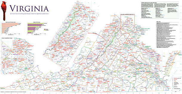AmphoraMap wine maps wine infographics – Virginia Travel Map