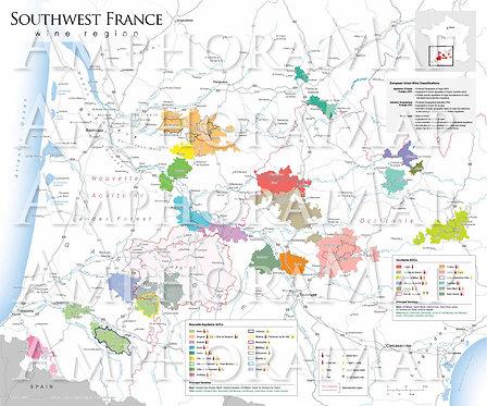 Southwest France Wine Map