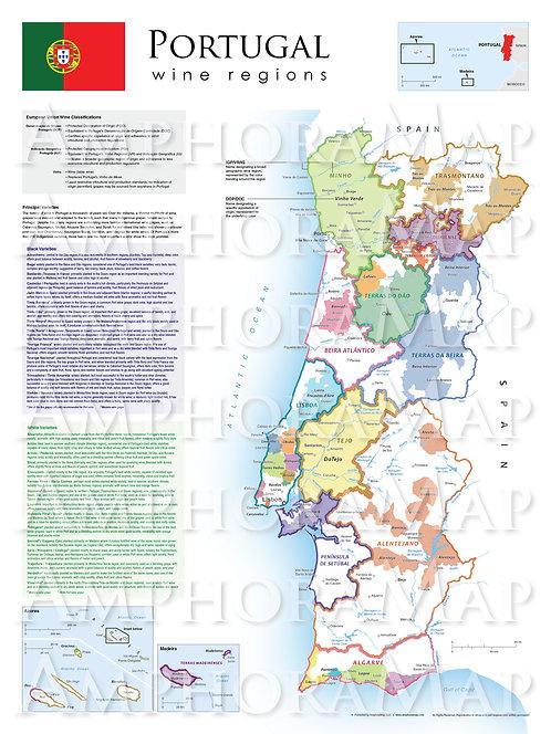 Portugal Wine Map