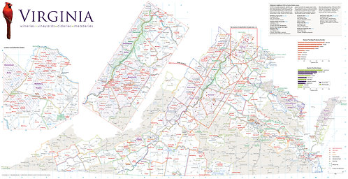 2020 Virginia Winery Map