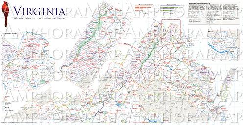 Virginia Winery Map