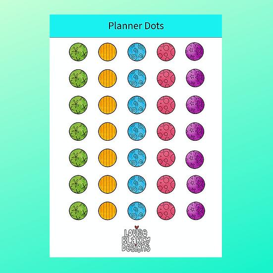 Planner Dots Sticker Sheet