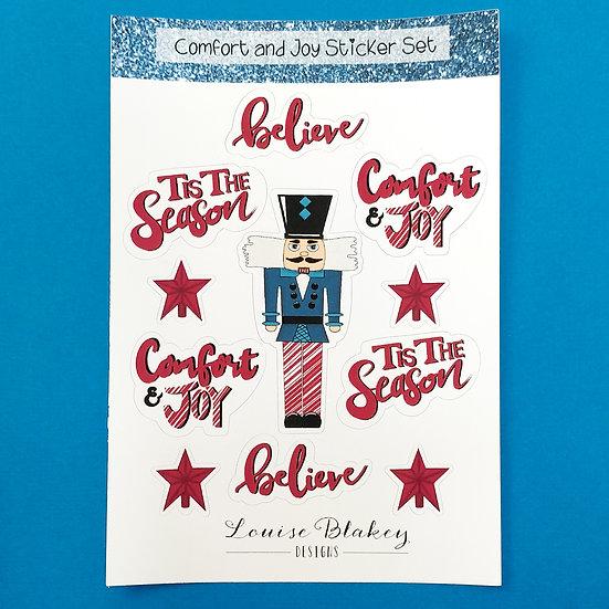 Red Comfort and Joy Sticker Sheet