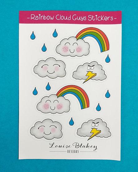 Rainbow Cloud Guys Sticker Sheet