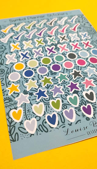 Symbol Planner Matt Sticker Sheet