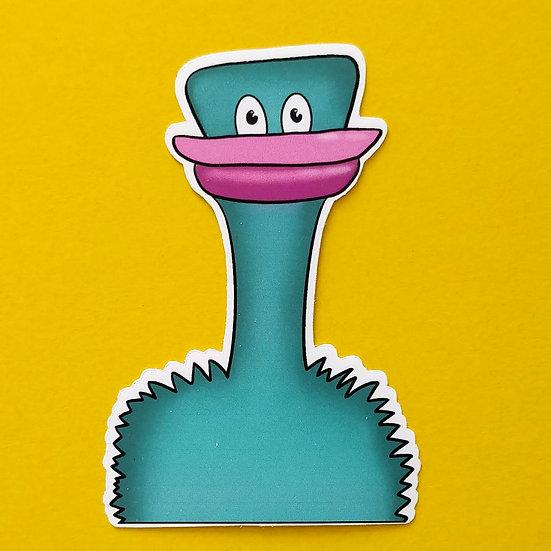 Emu Die Cut Vinyl Sticker