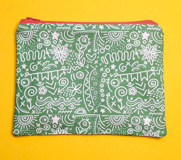 Doodles Zipped Pouch