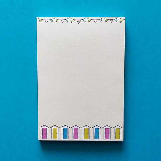 Beach Hut Notepad / A6 Notepad