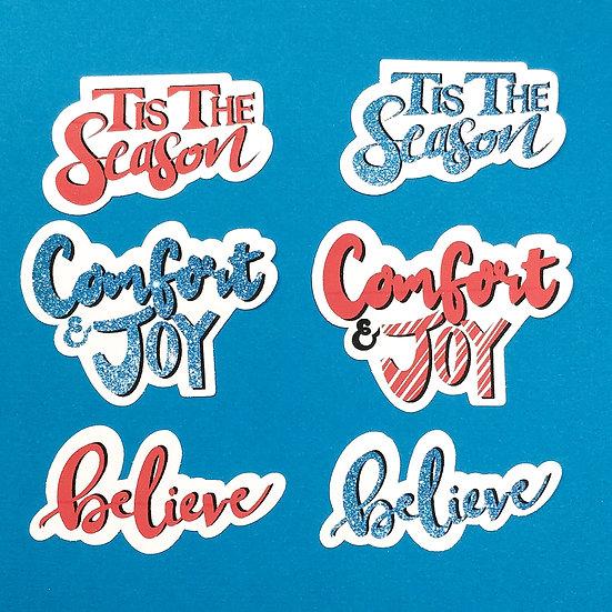 Comfort and Joy Die Cut Stickers