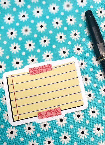 Lined Pad Matt Planner Vinyl Sticker