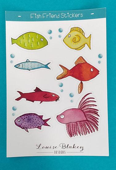 Fish Friends Sticker Sheet