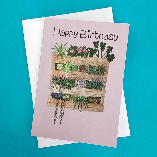 Happy Birthday Pallet Plant Greeting Cards